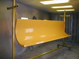 Snow plow referbishing and powder coating in Twinsburg Ohio!
