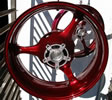 Powder coating red rims!