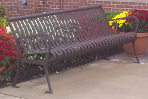 Northeast Ohio Park benches and lawn furniture powder coated antique bronze!