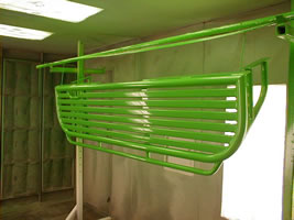 Our Northeast Ohio Powdercoating shop powder coats every color of the rainbow!