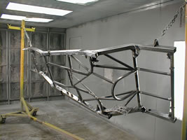 Northeast Ohio Car & truck frames are powder coated after sand blasting!